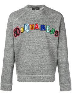 толстовка с вышитым логотипом Dsquared2