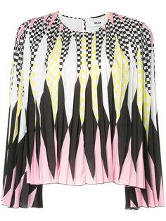 плиссированная блузка с ромбами MSGM
