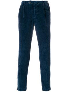 вельветовые брюки кроя слим Berwich