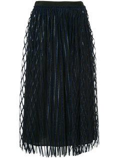 юбка из тюля в полоску  MSGM