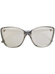 объемные солнцезащитные очки Bottega Veneta Eyewear