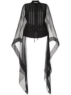 блузка с отделкой на рукавах  Antonio Berardi