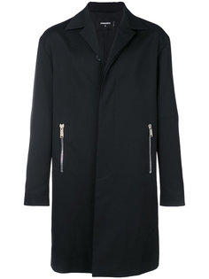 пальто с карманами на молнии Dsquared2
