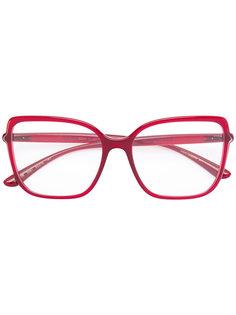 объемные очки в квадратной оправе Dolce & Gabbana Eyewear