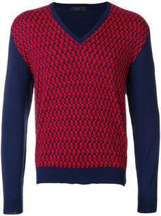 свитер с V-образным вырезом Prada