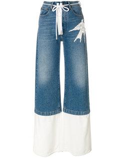 джинсы с пайетками Off-White