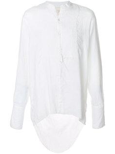 рубашка без воротника с необработанным подолом Greg Lauren