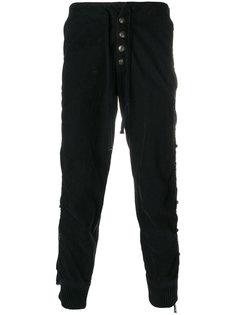 брюки с кисточками Greg Lauren