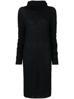 платье с высоким горлышком с заворотом Isabel Benenato