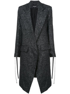 пальто с удлиненными лацканами и блестящей отделкой Ann Demeulemeester