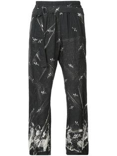 укороченные брюки с растительным принтом Ann Demeulemeester