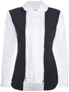 рубашка с контрастными панелями Comme Des Garçons Comme Des Garçons
