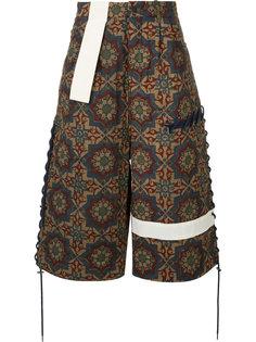 удлиненные шорты с орнаментом Craig Green