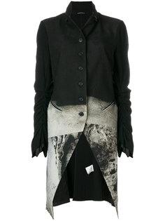 длинное пальто с узоом Rundholz