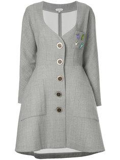 пальто на пуговицах с вырезом-сердечком Natasha Zinko