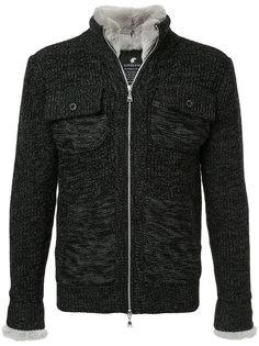 куртка в рубчик с меховым воротником Loveless
