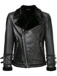 байкерская куртка с меховым воротником Guild Prime