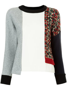 асимметричный свитер с панельным дизайном Loveless