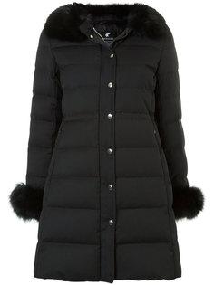 пуховое пальто с воротником из искусственного меха Loveless