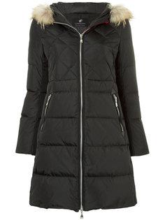 дутое пальто с капюшоном с оторочкой из искусственного меха Loveless