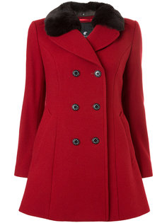 двубортное пальто с меховым воротником Loveless
