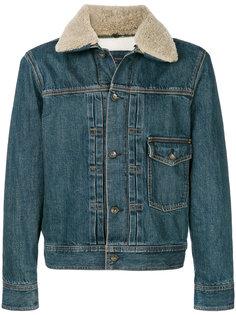 джинсовая куртка с воротником из овчины Rag & Bone