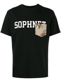 футболка с нагрудным карманом и логотипом Sophnet.