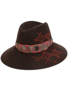 шляпа с узором Maison Michel