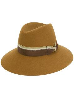 шляпа-федора с градиентной лентой Maison Michel