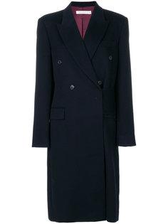объемное двубортное пальто Victoria Beckham