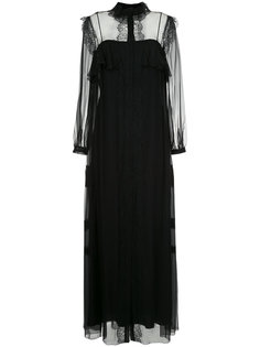 платье с прозрачными панелями Alberta Ferretti