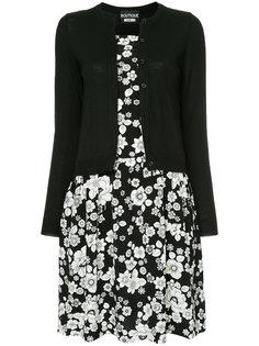 двухслойное платье-кардиган  Boutique Moschino