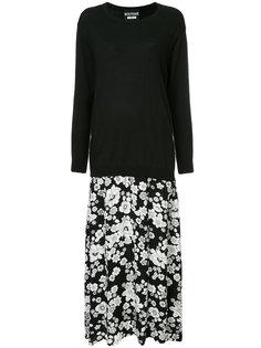 двухслойное платье Boutique Moschino