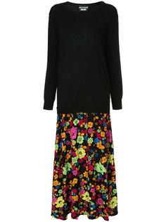 двухслойное платье-свитер  Boutique Moschino