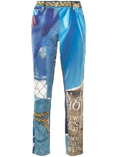 зауженные брюки  Moschino