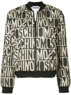 спортивная куртка с монограммой  Moschino