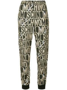 спортивные брюки с монограммой  Moschino