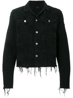 джинсовая куртка с потертой отделкой Misbhv