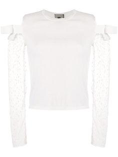 свитер с прозрачными рукавами Giambattista Valli
