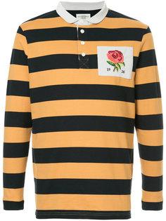полосатая футболка-поло с заплаткой  Kent & Curwen