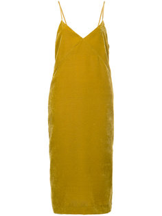бархатное платье без застежки Cityshop