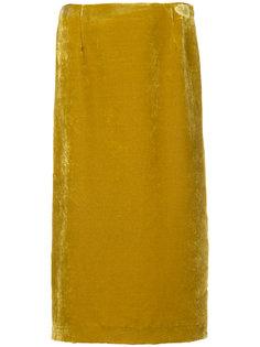 бархатная прямая юбка Cityshop