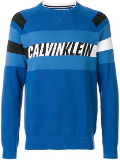 свитер с нашивкой логотипа Calvin Klein