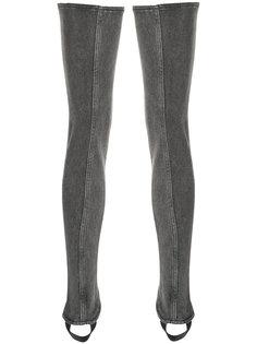 джинсовые чулки со штрипками Saint Laurent