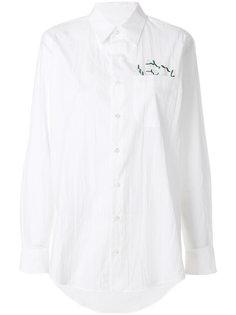 рубашка с вышивкой  Julien David