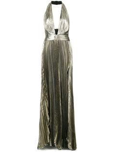 вечернее платье с эффектом металлик Maria Lucia Hohan