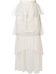 кружевная юбка миди Elie Saab
