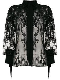 кружевная блузка с пайетками Elie Saab