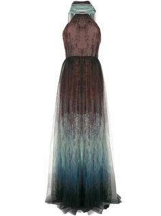 вечернее платье с принтом Elie Saab