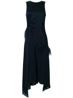 асимметричное платье с отделкой перьями 3.1 Phillip Lim